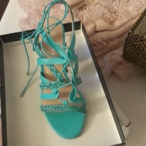 Shoes strappy heel in box
